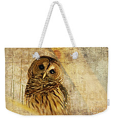 Barred Owl Weekender Tote Bag by Lois Bryan