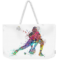 Baseball Softball Catcher Sports Art Print Weekender Tote Bag by Svetla Tancheva