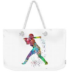 Baseball Softball Player Weekender Tote Bag by Svetla Tancheva