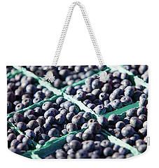 Baskets Of Blueberries Weekender Tote Bag by Todd Klassy