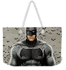 Batman Ben Affleck Weekender Tote Bag by David Dias