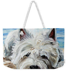 Beach Bum Weekender Tote Bag by Mary Sparrow