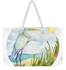 Beach Heron Weekender Tote Bag by Amy Kirkpatrick