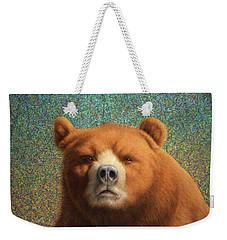 Bearish Weekender Tote Bag by James W Johnson