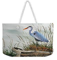 Beautiful Heron Shore Weekender Tote Bag by James Williamson