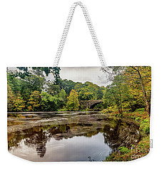 Beaver Bridge Autumn Weekender Tote Bag by Adrian Evans