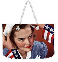 Become A Nurse -- Ww2 Poster Weekender Tote Bag by War Is Hell Store
