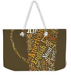 Beer Lovers Tee Weekender Tote Bag by Edward Fielding