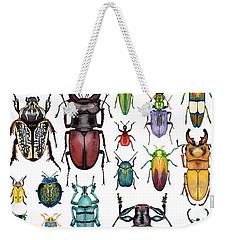 Beetle Collection Weekender Tote Bag by Kelly Jade King