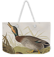 Bemaculated Duck Weekender Tote Bag by John James Audubon