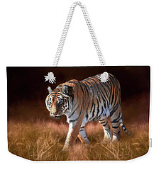 Bengal On The Prowl Weekender Tote Bag by Donna Kennedy