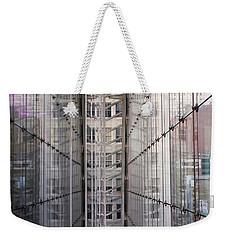 Between Glass Walls Weekender Tote Bag by Rona Black