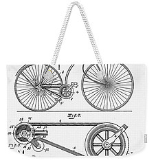 Bicycle Patent 1890 Weekender Tote Bag by Bill Cannon
