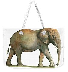 Big African Male Elephant Weekender Tote Bag by Juan Bosco