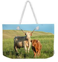 Big Horn, Little Horn Weekender Tote Bag by Todd Klassy