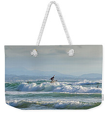 Weekender Tote Bag featuring the photograph Big Surf Invitational I by Thierry Bouriat