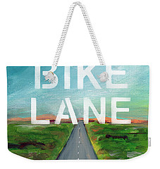 Bike Lane- Art By Linda Woods Weekender Tote Bag by Linda Woods