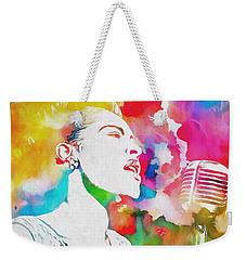 Billie Holiday Color Tribute Weekender Tote Bag by Dan Sproul