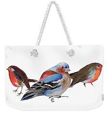 Birds Of A Feather Weekender Tote Bag by Nancy Moniz