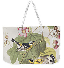 Black And Yellow Warblers Weekender Tote Bag by John James Audubon