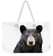 Black Bear Weekender Tote Bag by Amy Hamilton