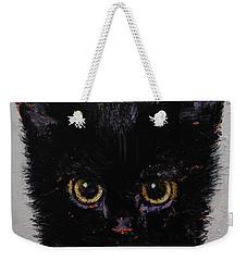 Black Kitten Weekender Tote Bag by Michael Creese