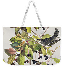 Black Poll Warbler Weekender Tote Bag by John James Audubon