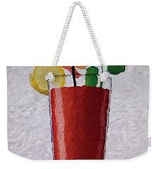 Bloody Mary Emoji Weekender Tote Bag by  Judy Bernier