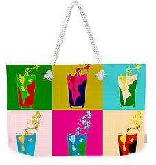 Bloody Mary Pop Art Panels Weekender Tote Bag by Dan Sproul