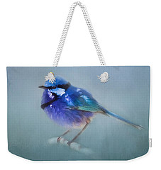 Blue Fairy Wren Weekender Tote Bag by Michelle Wrighton