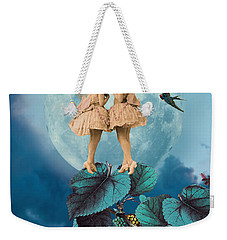 Blue Moon Weekender Tote Bag by Olga Snell