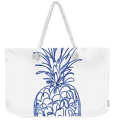 Blue Pineapple- Art By Linda Woods Weekender Tote Bag by Linda Woods