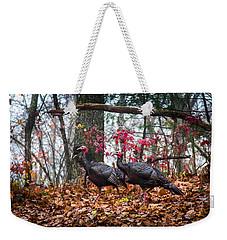 Blue Ridge Turkey Trot Weekender Tote Bag by Karen Wiles