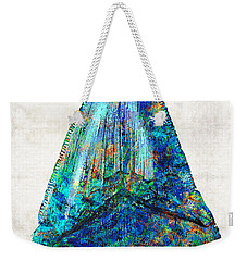 Blue Shark Tooth Art By Sharon Cummings Weekender Tote Bag by Sharon Cummings
