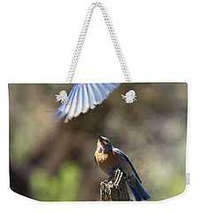Bluebird Buzz Weekender Tote Bag by Mike Dawson