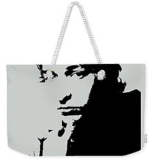 Bob Dylan Poster Print Quote - The Times They Are A Changin Weekender Tote Bag by Beautify My Walls