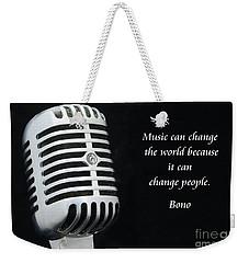 Bono On Music Weekender Tote Bag by Paul Ward