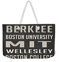 Boston Colleges Poster Weekender Tote Bag by Edward Fielding