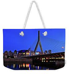 Boston Garden And Zakim Bridge Weekender Tote Bag by Rick Berk