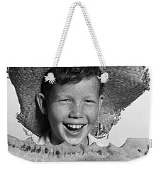 Boy Eating Watermelon, C.1940-50s Weekender Tote Bag by H. Armstrong Roberts/ClassicStock