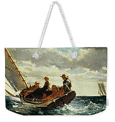 Breezing Up Weekender Tote Bag by Winslow Homer