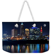 Bright Lights City Nights Weekender Tote Bag by Frozen in Time Fine Art Photography