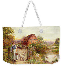Bringing Home The Sheep Weekender Tote Bag by Ernest Walbourn