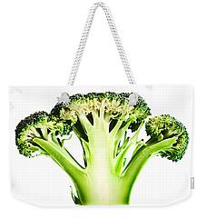 Broccoli Cutaway On White Weekender Tote Bag by Johan Swanepoel