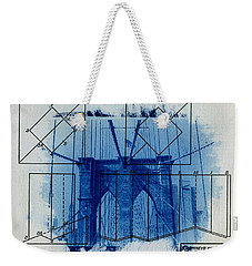 Brooklyn Bridge Weekender Tote Bag by Jane Linders