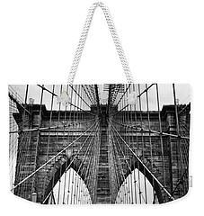 Brooklyn Bridge Mood Weekender Tote Bag by Jessica Jenney