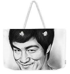 Bruce Lee Weekender Tote Bag by Greg Joens
