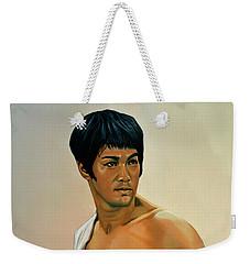 Bruce Lee Painting Weekender Tote Bag by Paul Meijering