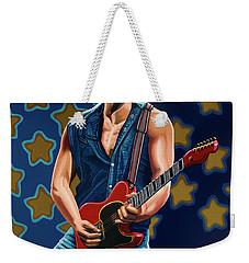 Bruce Springsteen The Boss Painting Weekender Tote Bag by Paul Meijering
