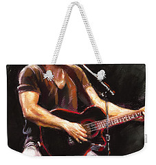 Bruce Springsteen  Weekender Tote Bag by Ylli Haruni